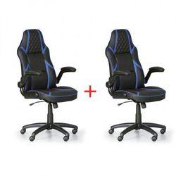 B2b partner Krzesło biurowe game, 1+1 gratis, czarny/niebieski