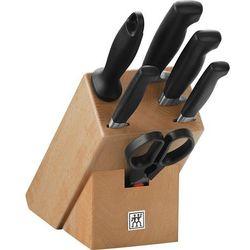 - zwilling pure zestaw 5 noży z nożyczkami i blokiem marki Zwilling