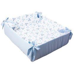 Glück Baby, Kojec, mata do zabawy Myszki, Niebieska, 155x45 cm, towar z kategorii: Kojce