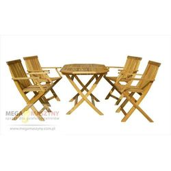 zestaw ogrodowy - stół + 4 stół basic set 4 marki Hecht