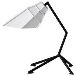 PETT - Lampa stojąca Czarny Abażur Odchylany Biały Wys.40cm