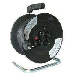 Solight Przedłużacz bębnowy 50m czarny