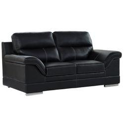 Sofa 2-osobowa MONIKA ze skóry bawolej – Kolor czarny