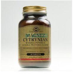 SOLGAR Magnez cytrynian 60 tabletek - sprawdź w wybranym sklepie