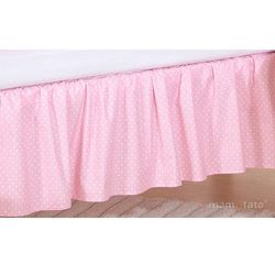 MAMO-TATO Falbanka do łóżeczka Sówki uszatki różowe