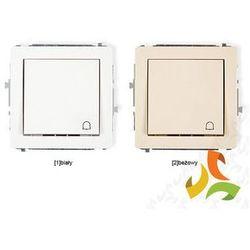 Wyłącznik zwierny dzwonek KARLIK DECO biały, beżowy - oferta [a574d140436f7260]