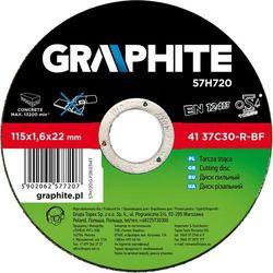 Tarcza do cięcia GRAPHITE 57H720 115 x 1.6 x 22.2 mm do kamienia - produkt z kategorii- Tarcze do cięcia