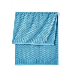 Bonprix Ręczniki w wypukły wzór niebieski