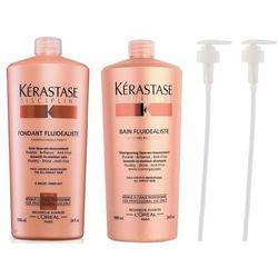 Kerastase fluidealiste zestaw dyscyplinujący włosy | szampon 1000ml + odżywka 1000ml + pompka w prezencie x2!