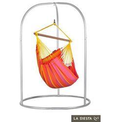 Zestaw hamakowy: fotel hamakowy sonrisa ze stojakiem romano, czerwono-żółty snc14roa16 marki La siesta