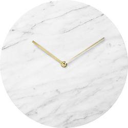 Zegar ścienny Marble Carrara, kolor biały