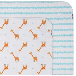 Zestaw kocyków - otulaczy flanelowych  (102x102) - żyrafy marki Zoocchini