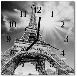 Zegar ścienny kwadrat Wieża eiffla w paryżu