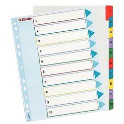 Przekładki mylar A4 Maxi z kartą opisową, 1-10 Esselte 100208