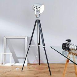 Brilliant mettle lampa stojąca chrom, czarny, 1-punktowy (4004353130588)