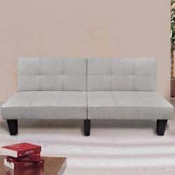 sofa rozkładana, ciepły biały kolor wyprodukowany przez Vidaxl