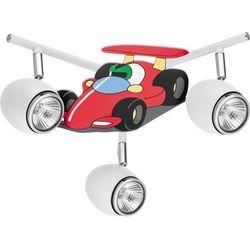 Lampa dla dziecka Samochód wyścigówka - Car biały/ chrom 3x50W GU10, 2106302