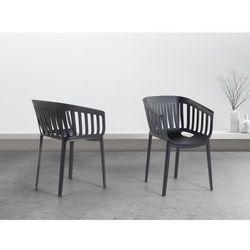 Beliani Krzesło czarne - do jadalni - kuchenne - ogrodowe - dallas