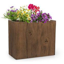 Blumfeldt timberflor doniczka na rośliny 60x50x30cm włókno szklane do wewnątrz/na zewnątrz brązowy (4060656101663)