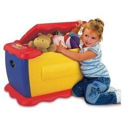 Kolorowa skrzynia na zabawki z tablicą + zestaw magnetycznych literek i cyferek gratis marki Crayola