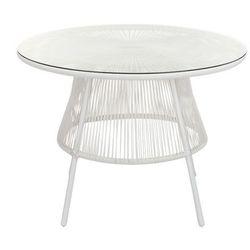 Stół ogrodowy KELIOS z technorattanu – kolor biały