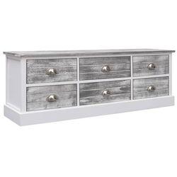 Vidaxl szafka pod tv, szara, 115x30x40 cm, drewno