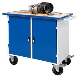 Mobilny stół warsztatowy FLEX, 2 szafki, 1100x595x900 mm, 210642