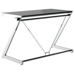 Biurko z-line desk plus (120x60 cm) szkło czarne marki Unique