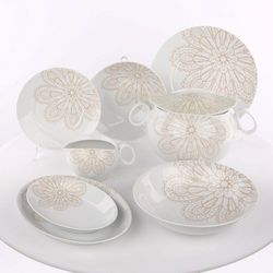 Zakłady porcelany ćmielów s.a. Zestaw obiadowy 12/41 g205 quebec koronka-ćmielów