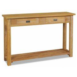 Konsola z drewna tekowego z szufladami - Tezo 2X, vidaxl_244482