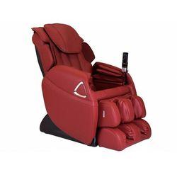 Fotel masujący LETO z obiciem skóropodobnym - System wprowadzający w stan nieważkości (antygrawitacyjny) - Czerwony
