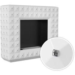 biokominek EGZUL z kryształami Swarovski ® biały mat - sprawdź w Electrocenter Sławomir Więczkowski