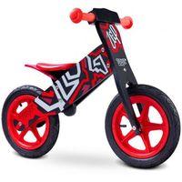 Caretero  rowerek biegowy zap black/red toyz-0201