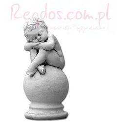 Figura ogrodowa betonowa aniołek śpiący na kuli 24cm