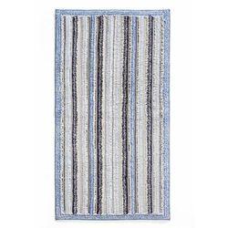 Dywaniki łazienkowe w paski niebieski marki Bonprix