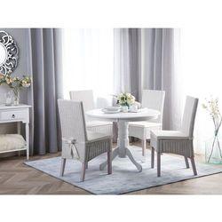 Stół do jadalni biały 100 cm okrągły akron marki Beliani