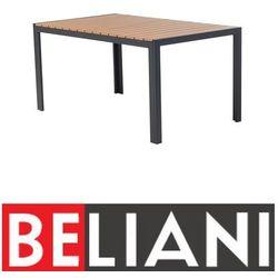 Beliani Stół ogrodowy brązowy - meble ogrodowe - aluminium - 150 cm - como (7081451711731)