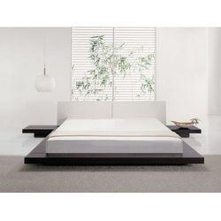 Luksusowe lózko 180x200 cm z szafkami nocnymi - drewno skóra - ZEN, produkt marki Beliani