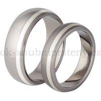 Tytanowe obrączki ślubne z srebrem TS63-5 (Tytanowe obrączki)