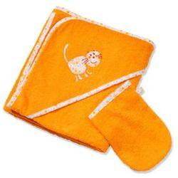 ręcznik kąpielowy z kapturem 100x100 z myjką barbados (360-77), marki Easy baby