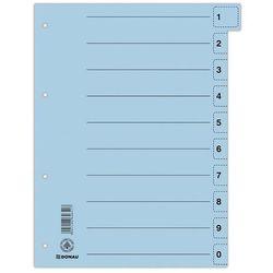 Przekładki , karton, a4, 235x300mm, 0-9, 10 kart z perforacją, niebieskie marki Donau