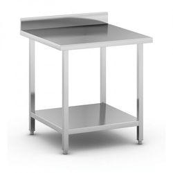 B2b partner Stół roboczy ze stali nierdzewnej z półką, 800 x 800 x 850 mm