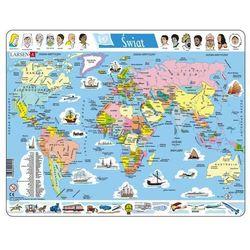 Świat - mapa polityczna (mapa szkolna) od SELKAR