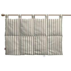 Dekoria Wezgłowie na szelkach, beżowo białe pasy (1,5cm), 90 x 67 cm, Quadro