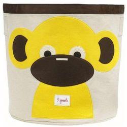 3 sprouts Kosz na zabawki - małpka, kategoria: pojemniki na zabawki