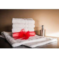 Ręcznik Hotelowy LUX 500 gr/m2 100x150 cm Basenowy Biały 100% Bawełny Egipskiej, 0A3F-85120