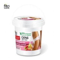 """Naturalny Scrub do ciała """"Intensywna pielęgnacja"""" winogronowo-cukrowy, 155ml – Fitocosmetic – 4670017926448, FITO59"""