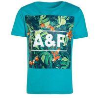 Abercrombie & Fitch Tshirt z nadrukiem turquoise, kolor niebieski