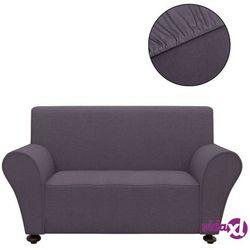 elastyczny pokrowiec na sofę, z dżerseju, antracytowy marki Vidaxl