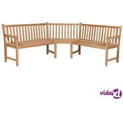 ogrodowa ławka narożna, 202x202x90 cm, lite drewno tekowe marki Vidaxl